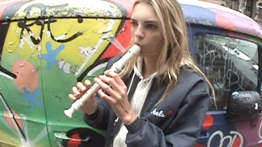 Molly Bair can only play one song on the soprano recorder.