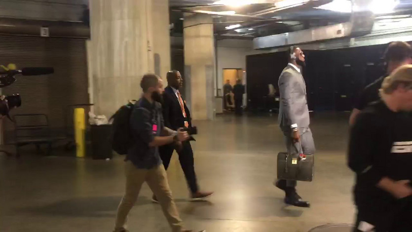 The Cleveland Cavaliers all in matching Thom Browne suits